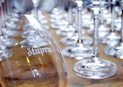 Gravírování sklenic na víno