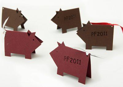 PF papírová prasátka - digitální výsek