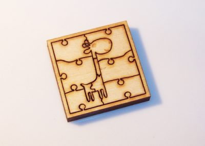 Řezání laserem - dřevěné puzzle