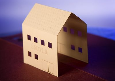 Tvary řezané laserem - domeček