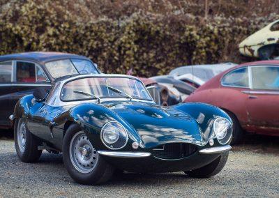 jaguar xkss celni pohled na vrakovisti