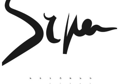 kaligrafický kalendář 2018