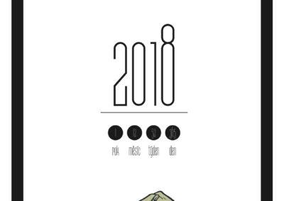 poznámkový kalendář 2018