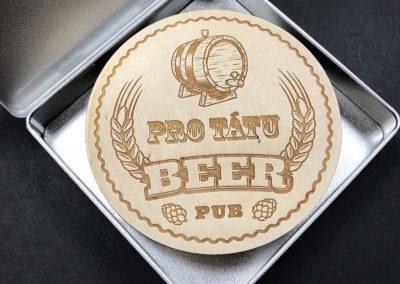dřevené pivní podtácky