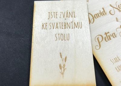 svatební oznámení ve stylu Provence