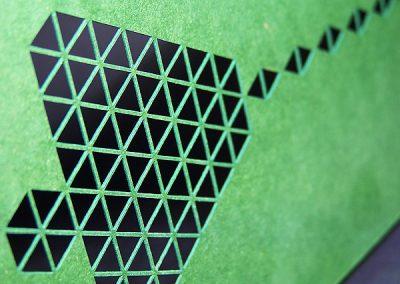 Jemný výsek papíru laserem - PF zvonek