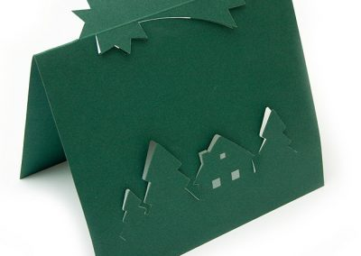 PF papírový domeček