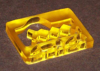 Výřez plexi laserem - přívěšek