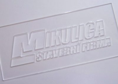 Šablona řezaná laserem - plexi