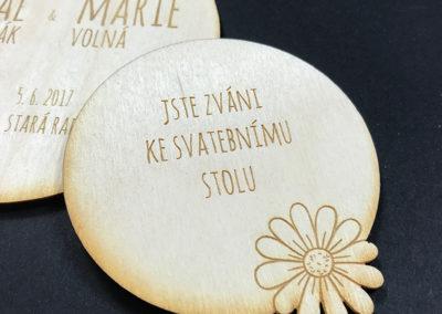 svatební oznámení kopretina