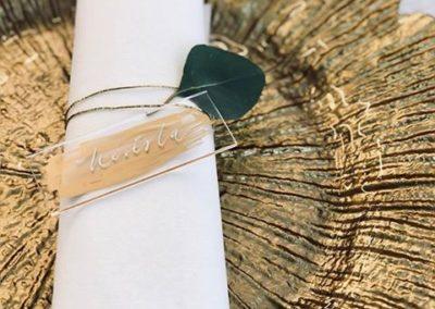 plastové svatební oznámení jmenovka