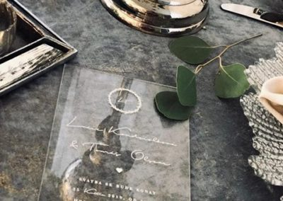 plastové svatební oznámení uv potisk