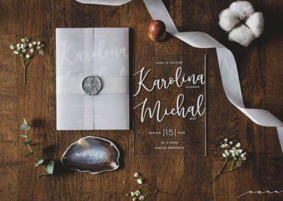 svatební oznámení z plastu